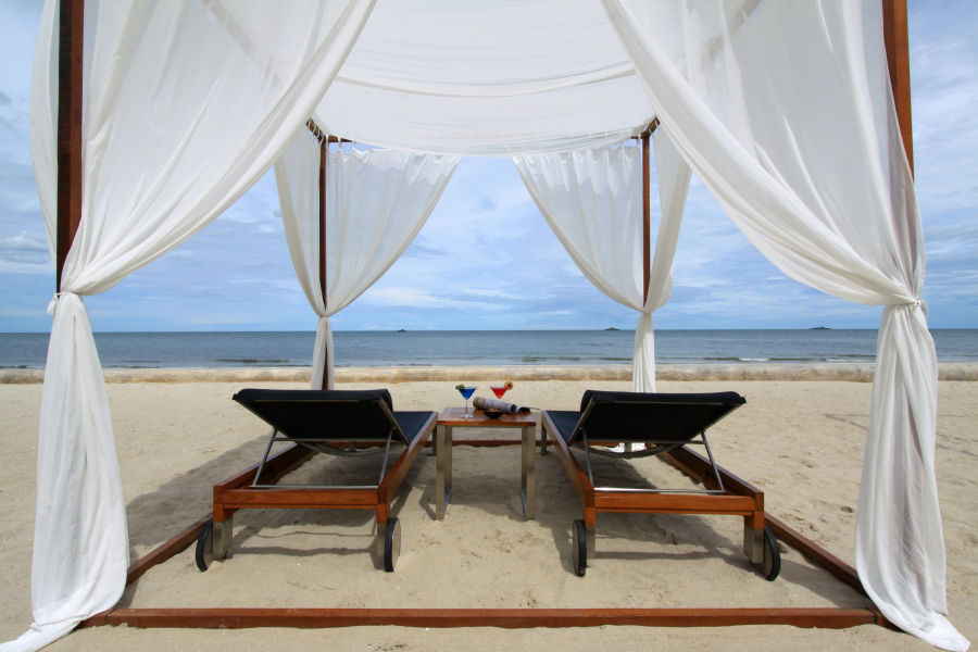 Daybed am Strand
