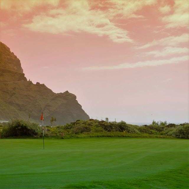 Golfplatz auf der Kanaren-Insel Teneriffa.